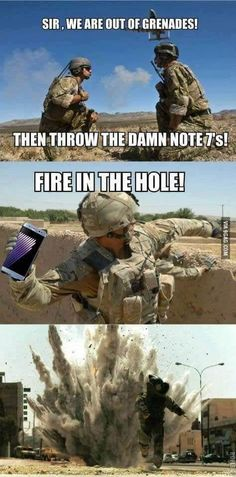 Use the Samsung as a grenade
