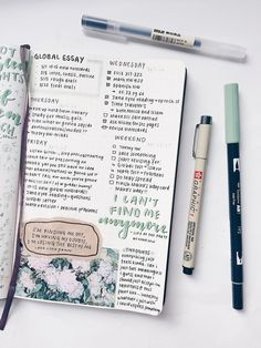 Bullet journal inspiration — oikawastudies: old spread but i keep forgetting...