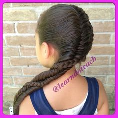 """""""Side Dutch Braid accompanied by a French Fishtail"""" Photo taken by @learndoteach on Instagram, pinned via the InstaPin iOS App! http://www.instapinapp.com (06/11/2015)"""