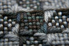 Rich colors and textures in a pinwheel weave from an 8-shaft loom by Weave-Away