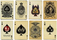the ace of spades #2, vintage playing cards