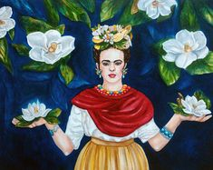 40% de descuento Frida Kahlo Print lienzo abrigo Home Decor