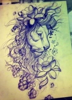 tumblr lion sleeve tattoo - Google Search