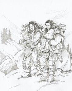 Dis daughter of Thrain, Thorin Oakenshield, Fili, and Kili