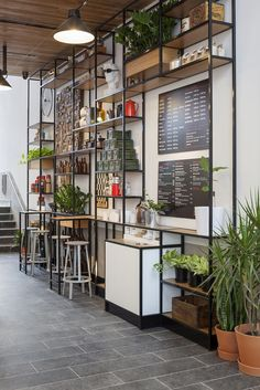 View full picture gallery of Urby Staten Island Cafe Restaurant, Restaurant Design, Cafe Interior, Interior Design, Communal Kitchen, Staten Island New York, Island Pictures, Shelving Design, Modern Tiny House
