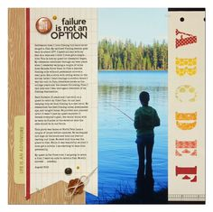 Failure is not an option by Summer Fullerton Scrapbook Sketches, Scrapbooking Layouts, Scrapbook Cards, Big Photo, Photo Layouts, Studio Calico, Large Photos, Life Is An Adventure, Plein Air