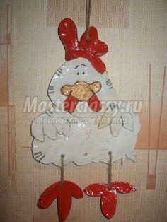 Hanging Chicken Plaque. #Creative #Garden #Plaque |