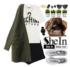 """Shein"" by oshint ❤ liked on Polyvore featuring Moschino, Raf Simons, Billabong, Smoke & Mirrors, Larsson & Jennings, Gorjana, Givenchy, Sheinside and shein"