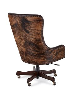 Brindle & Leather Office Chair - Horchow