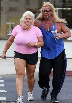 Don't you think you've already had enough sun? Dog The Bounty Hunter and his buxom wife Beth Chapman head to a tanning salon
