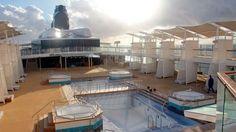 Pool Deck, Celebrity Reflection Under Construction – Celebrity Reflection Conveyance Photo Tour   Popular Cruising (Image Copyright © Celebrity Cruises)