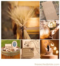 rustic wedding inspiration - love the aisle decor and cake topper! #wedding