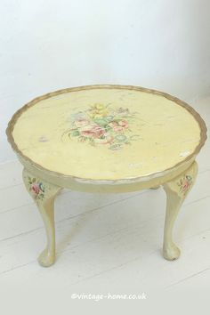 Vintage Home Shop - Original 1940s Hand Painted Floral Table: www.vintage-home.co.uk