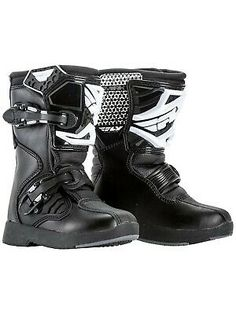 VIPER KIDS K156 LEATHER MOTOCROSS MOTORCYCLE SPORTS RATCHETS BLACK BOOTS