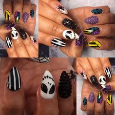Halloween Nails @nailsyulieg (yulie Gonzalez) 's Instagram photos | Awesome Nail Artist in Ontario, Ca