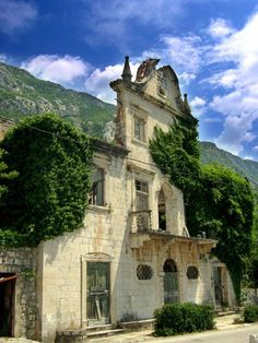 Old palace in Dobrota, Montenegro