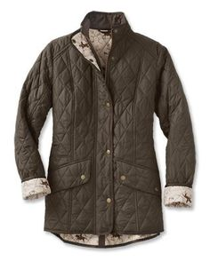 dc548b4cbc0b Diamond Quilted Jacket / Barbour® Ladies Horse-Print Cavalry Jacket
