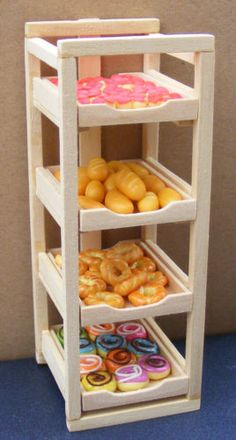 Filled Wooden Bakers Tray Rack