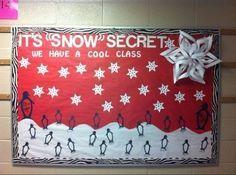 back to school bulletin boards | It's Snow Secret We're A Cool Class Winter Bulletin Board Idea