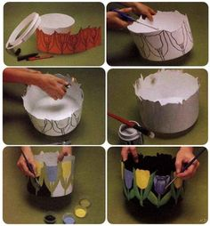 como decorar macetas de plastico para navidad - Buscar con Google
