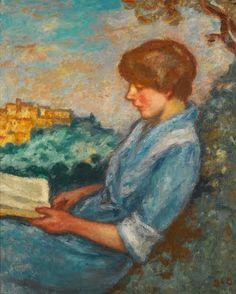 Espagnat, Georges d' (1870-1950) La lecture en plein air