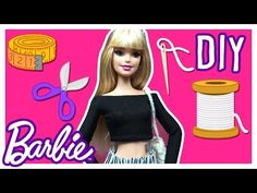 DIY - How to Make Barbie Doll Blouse - Barbie Clothes Tutorial - Making Kids Toys - YouTube
