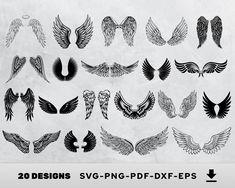Underboob Tattoo, Wings Design, Heaven Sent, Silhouette Studio Designer Edition, Print And Cut, Svg Files For Cricut, Clipart, Vinyl Decals, Car Decals