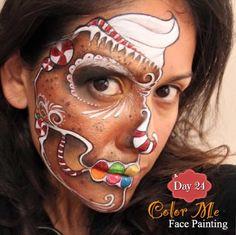 Vanessa Mendoza. || day 24 her gingerbread skull