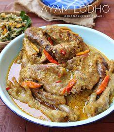 Resep Masakan nusantara: AYAM LODHO Asian Recipes, Ethnic Recipes, Caribbean Recipes, Indonesian Food, Diy Food, Pot Roast, Chicken Recipes, Easy Meals, Food And Drink
