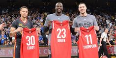 Steph, Dray and Klay got their All-Star Game unis a couple of days early.