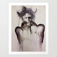 Art Print featuring Hello Darkness My Old Friend, I've Come to Talk With You Again  by Daniel Plaskett
