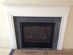 They've installed the fireplace!!  Wow, I can't wait for this place to be done!!