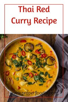 A creamy and full flavoured Thai red curry recipe with tender chunks of chicken and oven roasted veggies. Make this simple Thai red curry in just 30 minutes and for a boost of flavour try it with homemade Thai red curry paste. Thai Red Chicken Curry, Thai Red Curry, Roasted Veggies In Oven, Thai Curry Recipes, Coconut Sauce, Red Curry Paste, Oven Roast, Indian Dishes, Chicken Recipes