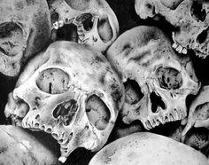 Pile of Skulls II Art Print  Click through to Society6 print store. DO NOT REMOVE CREDIT   art, drawing, sketch, pencil, illustration, realistic, realism, skull, skulls, black and grey, detailed, horror, anatomy, lynsey hayton art.