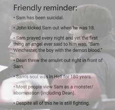 💔💔💔💔💔💔 We got you out Sammy. Dean only called Sam a monster once when he went off with ruby and kept drinking demon blood. Circus Music, Supernatural Destiel, Supernatural Cartoon, Keep Fighting, Super Natural, Jared Padalecki, Sam Winchester, Superwholock, Tv Shows