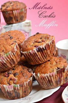 Málnás-csokis bögrés muffin Kefir, Fudge, Muffins, Cupcakes, Breakfast, Gabi, Food, Kuchen, Morning Coffee