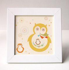 Mama Owl Print