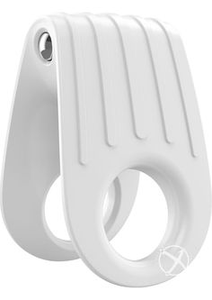 Buy Ovo B12 Silicone Cock Ring Waterproof White And Chrome online cheap. SALE! $26.99