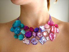 gem tone statement necklace