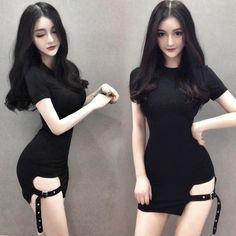 ) shipping time will be longer than normalDon' Korean sexy strap skirt night dress Korean Girl Fashion, Dolly Fashion, Sailor Fashion, Ulzzang Fashion, Cute Fashion, Asian Fashion, Fashion Outfits, Sexy Asian Girls, Beautiful Asian Girls
