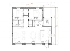 Go Logic 1100 SF prefab home model - plans.