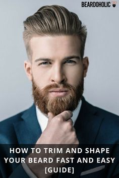 Beard grooming has never been so easy before. In this article, our aim is to provide you with the easiest and best ways to have a well groomed beard. Beard Styles For Men, Hair And Beard Styles, Beard And Hairstyles, Hairstyle Men, Beard Trimming Guide, Trimmed Beard Styles, Mens Beard Grooming, Men Beard, Epic Beard
