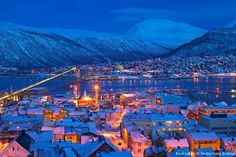 Polar night (day, really) in Tromso, Norway Cool Countries, Countries Of The World, Wanderlust Photography, Travel Photography, Tromso Northern Lights, Norway Winter, Oslo Winter, Winter Night, Best Winter Vacations