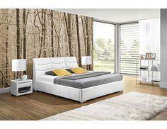 Łóżko do sypialni Heros. Wyprofilowany zagłówek jest idealny do czytania i oglądania telewizji. Design Case, Bedroom Bed, Outdoor Furniture, Outdoor Decor, Betta, Minimalism, House Design, Home Decor, Mai