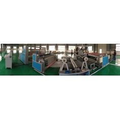 TPR carpet Laminating machine is a complete production line adopting cast film process to heat and extrude PE, EVA, TPR, PP, and other material, coat to substrates(base fabric), press and cool, finally take up in rolls. http://www.dali-plasticmachinery.com