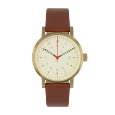 VO3D in brown leather Watch