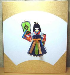 Hand-made Japanese paper doll - Fan girl on shikishi board… | Flickr