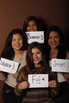 Courage, Dulce Luna, Estudiante, UANL, Monterrey, México  Smile, Marlene Amaya, Estudiante, UANL, Monterrey, México  Smile, Daniela Castro, Estudiante, UANL, Monterrey, México  Faith, Evelyn Tervel, Estudiante, UANL, Monterrey, México