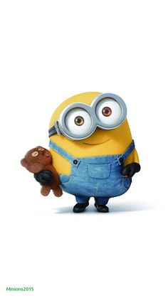 Movies Wallpaper for iPhone from Uploaded by user Bob with his teddybear so cute minions Cute Minions Wallpaper, Minion Wallpaper Iphone, Disney Phone Wallpaper, Cute Cartoon Wallpapers, Cute Wallpaper Backgrounds, Music Backgrounds, Minions Bob, Minions Images, Minions Despicable Me