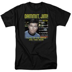Behold the Star Trek: Original Series - All Of The Above Adult T-Shirt. Now you can be part of the hype with this black colored, officially licensed t-shirt made of 100% pre-shrunk cotton. This t-shir